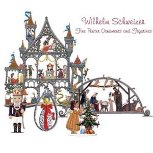 wilhelm schweizer fine pewter ornaments and figurines from hermanns fine gifts - German Christmas Decorations Wholesale