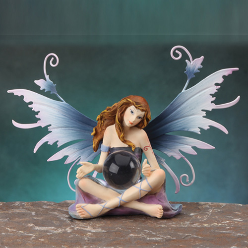 FAIRY HOLDING GLASS BALL